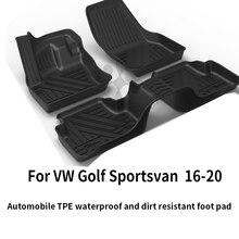 Vw custom car всепогодный tpe tpo напольный коврик для ног черный
