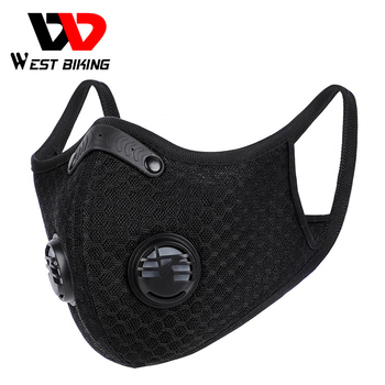 WEST BIKING Men Cycling Face Mask Activated Carbon Sport Half Face Shield Washable MTB Bike Bicycle Masks With Filter