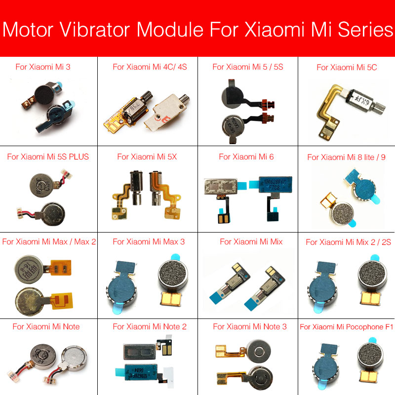 Motor Vibrator Module For Xiaomi Mi Note Max Mix 2 3 4C 4S 5 5S 5X 6 8 9 Lite Plus Pocophone F1 Vibration Replacement Repair