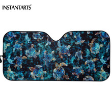 INSTANTARTS Sea Turtles Brand Design Windshield Sun Shade for Car Durable UV Protect Foldable Front  Windshield Sun Shade Covers недорого