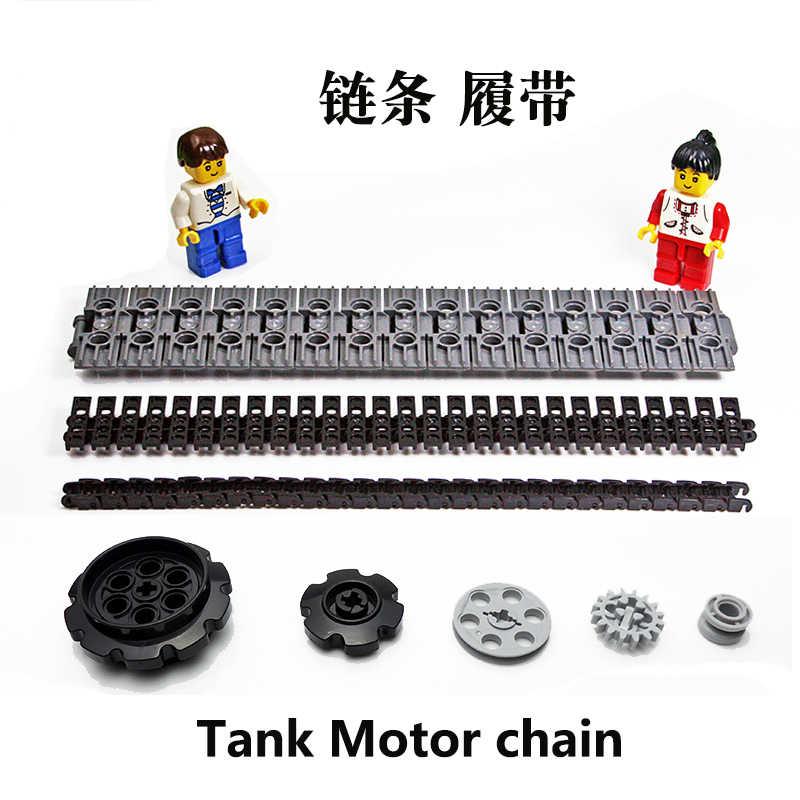 200 adet/grup DECOOL teknik tankı motosiklet zincir bağlantı uyumlu 3711 15379 88323 57519 24375 42610 taşları tuğla parçaları