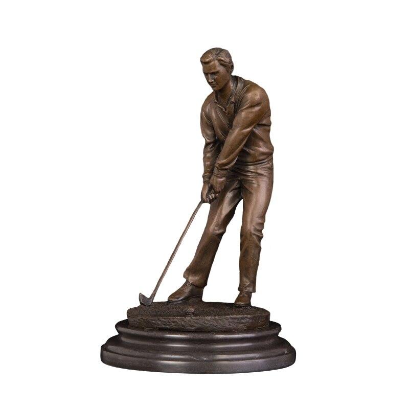 Bronze sport man art ornament small golfer statue sculptuer for sale|Statues & Sculptures| |  - title=