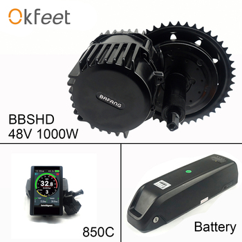 48V 1000W Bafang BBSHD 100mm BBS03 de Motor de bicicleta eléctrica de Ebieke Kit de conversión con función de batería