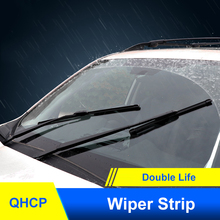 QHCP Cars Windshields Wipers Coated Silicone Wiper Strips For Subaru Forester 2013 2018 2019 2020 Outback 2015 2019 XV 2018 2020