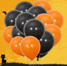 Sale!10pcs 2.5g 10inch, Black Orange Balloon Latex Baloons, Christmas Wedding Party Supplies Ballons Halloween Ballon balao toys(China)