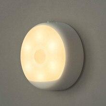 Mijia LED oryginalne noc czujnik światła PIR lampa z czujnikiem USB Mini nocna lampa na akumulator dekoracja sypialni lampy wiszące