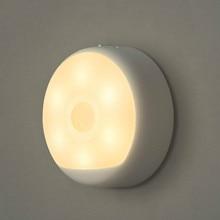 Mijia lámpara con Sensor de movimiento, luz LED nocturna Original, Mini luz recargable por USB, para decoración de dormitorio, lámparas colgantes