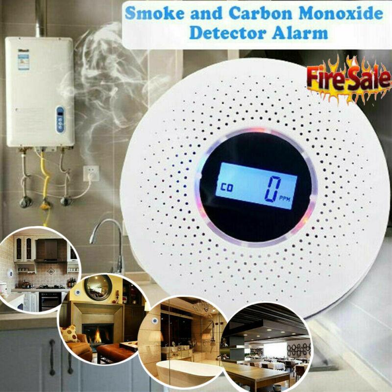 Wireless Monoxide CO Detector Smoke Poisoning Gas Sensor Monitor Warning Alarm