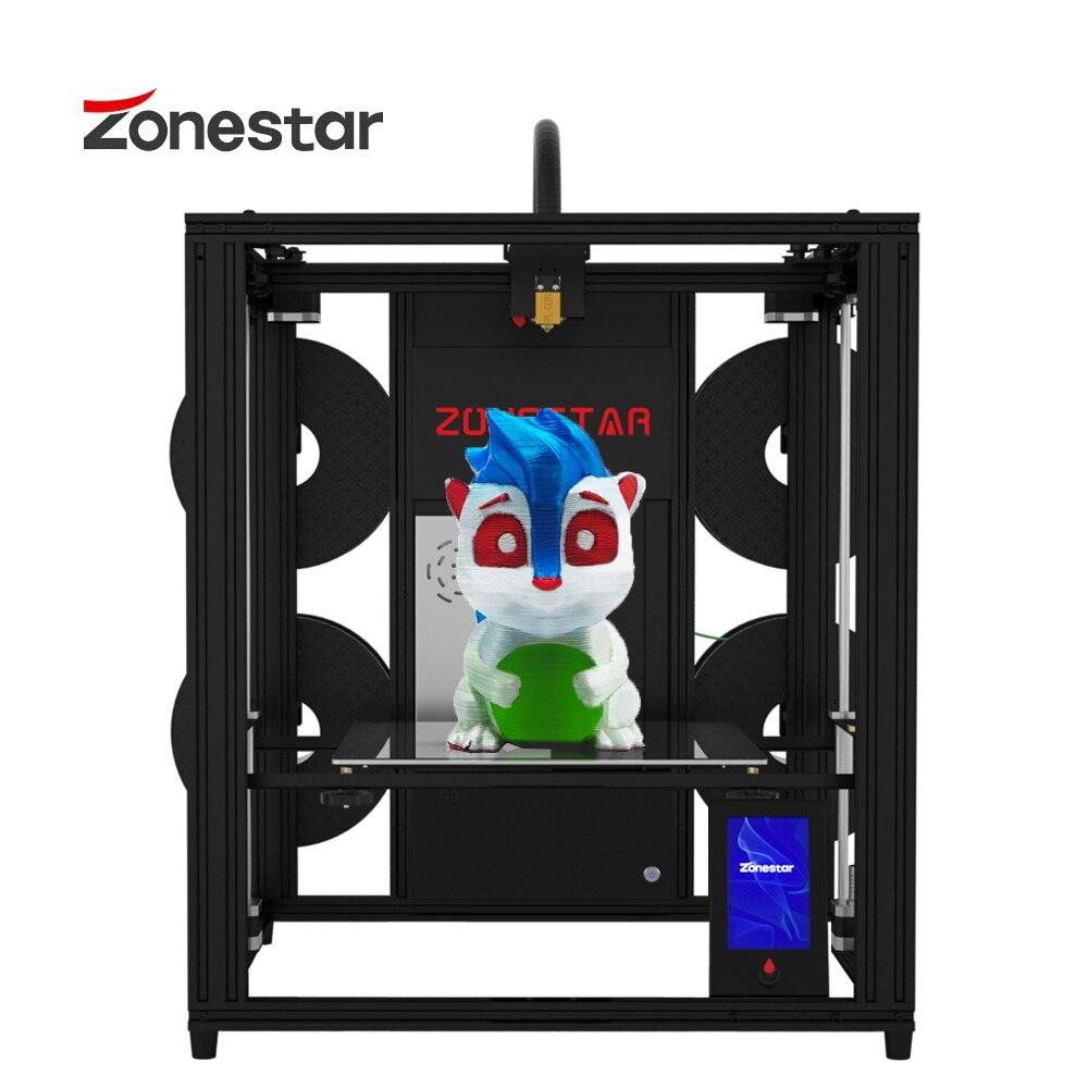 ZONESTAR 2021 Newest 4 Extruder Multi Color FDM 3D Printer 4.3