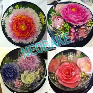 Image 2 - 30 PCS/SET Flowers Leaves 3D Jelly Art Tools Cake Jello art Gelatin Tools pudding nozzle