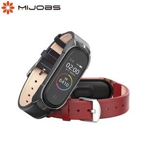 Image 1 - Mi Band 5 браслет из натуральной кожи NFC глобальная версия для Xiaomi Mi Band 4 ремешок Mi Band 3 ремешок TF умные аксессуары ремешок для часов