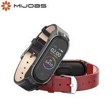 Mi Band 5 pulsera de cuero genuino NFC versión Global para Xiaomi Mi Band 4 Correa Mi Band 3 Correa TF Accesorios inteligentes correa de reloj