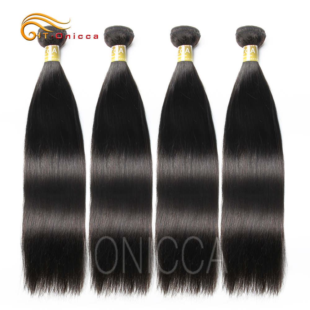 18 20 <font><b>22</b></font> <font><b>24</b></font> <font><b>26</b></font> <font><b>28</b></font> Inch 1 3 4 Brazilian Straight Hair Weave <font><b>Bundles</b></font> Natural Black Color Remy Hair Extensions 100% Human Hair image