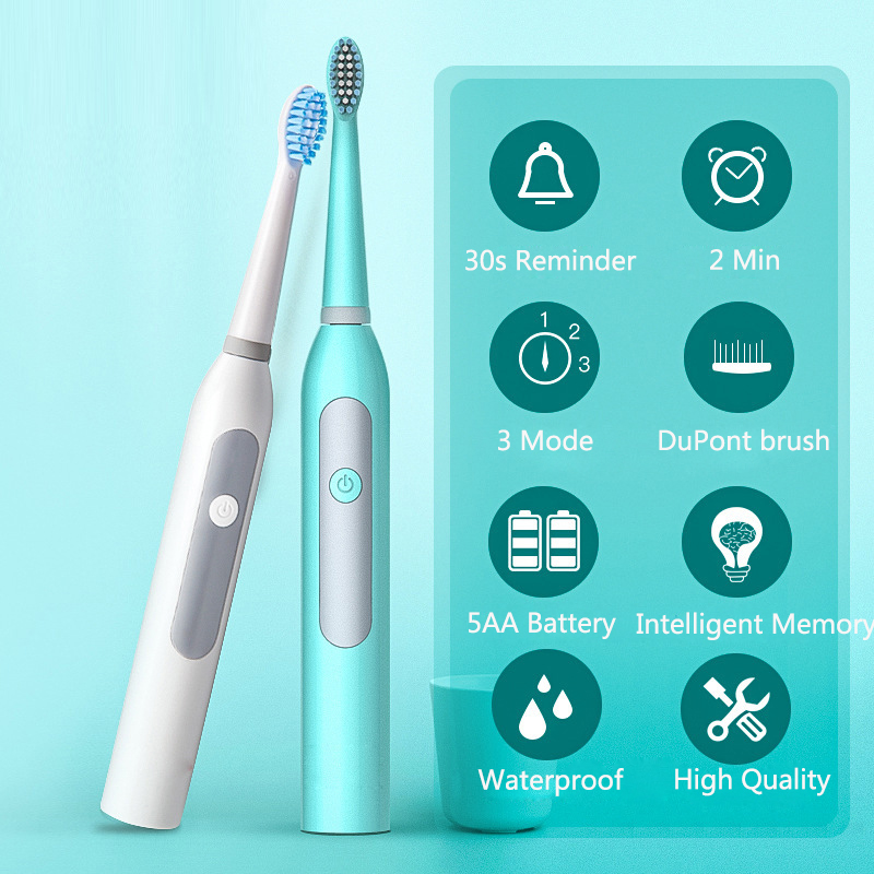 Adult Sonic Toothbrush Electric Tooth Brush HeadsGum Health IPX7 Waterproof Best Gift Teethbrush with 1 Replacement Brush 40 image