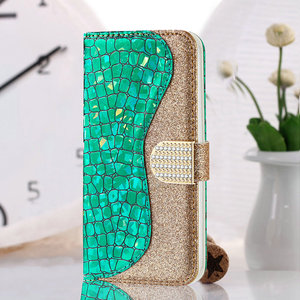 Image 2 - Bling Sequins Leather 360 Protect for Samsung Galaxy A52 5G 2021 Luxury Case Samsung A 52 Flip Cover Card Slot Wallet Shell Etui