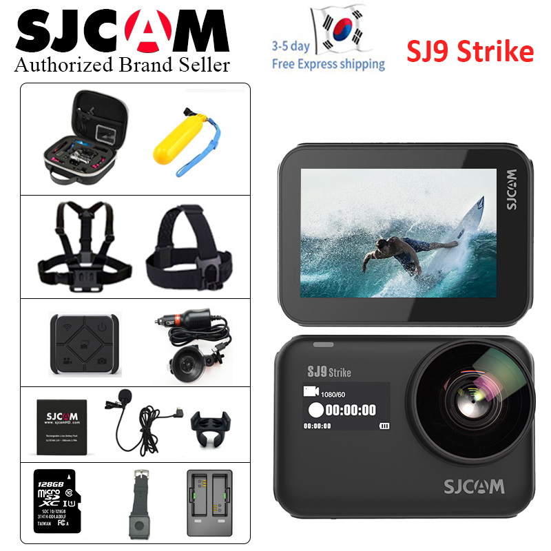 2019 GYRO SJCAM SJ9 Strike Ultra HD 4K Action caméra étanche corps 10m 2.33 'écran tactile sport caméra extrême pro cam 128G TF