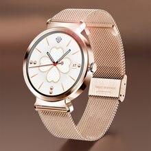 Часы lige женские с пульсометром и тонометром модные многофункциональные