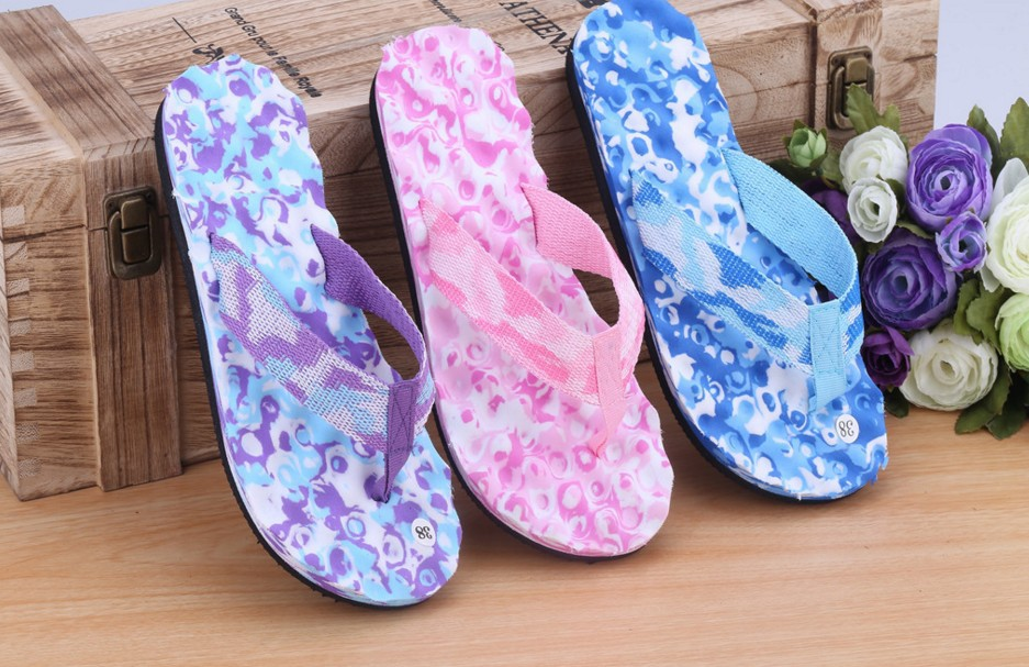 Beach Flip Flops Fashion Camouflage Water Shoes Women Summer Slippers Shoe Unisex Lovers Couples Outside Sandals Pantufas