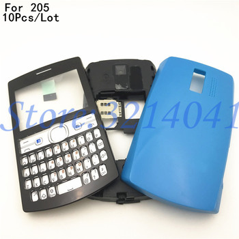 10Pcs/Lot New Full Complete Mobile Phone Housing Battery Cover For Nokia 205 With English Keypad +Logo