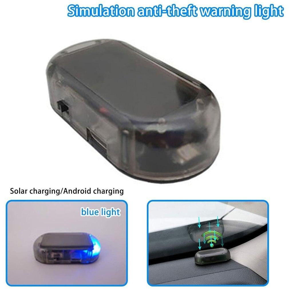 Multifunction New Solar Power Car Alarm System Vehicle LED Light Simulate Warning Anti Theft Lamp Security System Flashing