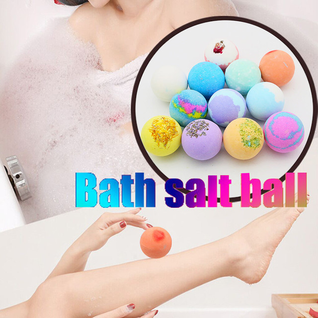 12PCS Bubble Bath Ball Shower Bomb Skin Essential Oil Moisturizing Exfoliating Moisturizing Skin Care Natural Bath Bomb