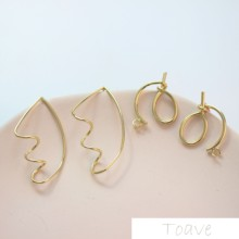 Abstract knotting shaped ear nail diy ear accessories