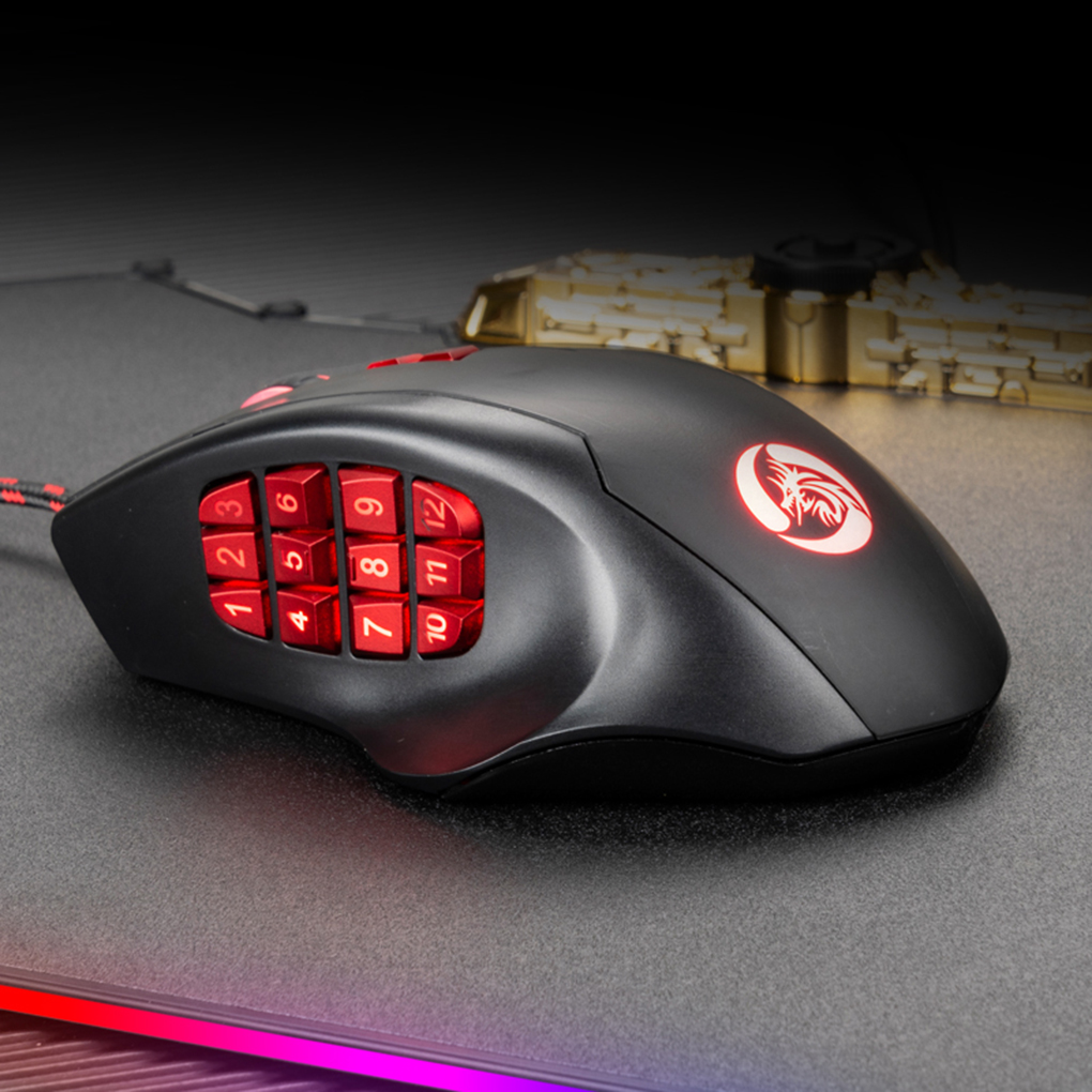 USB Optical Mouse 10000 DPI Wired Gaming 17 Side Keys Programing Mechanical Mouse RGB Backlit
