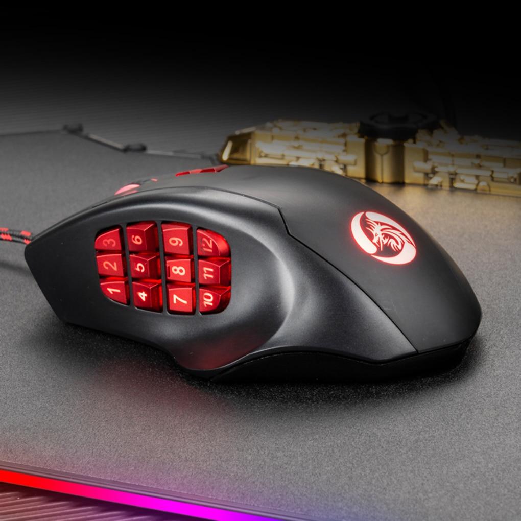 USB Optical Mouse 10000 DPI Wired Gaming 17 Side Keys Programing Mechanical Mouse RGB Backlit