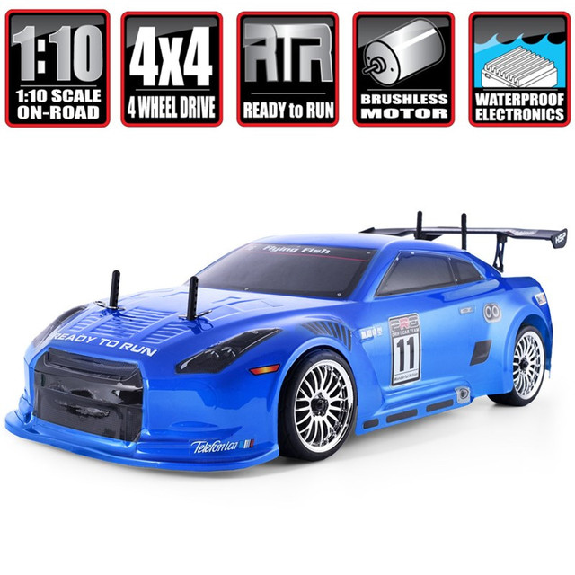 HSP Brushless Rc Car 1:10 4wd On Road Racing Drift Remote Control Car 94123PRO Electric Power Toys High Speed Hobby Lipo Vehicle