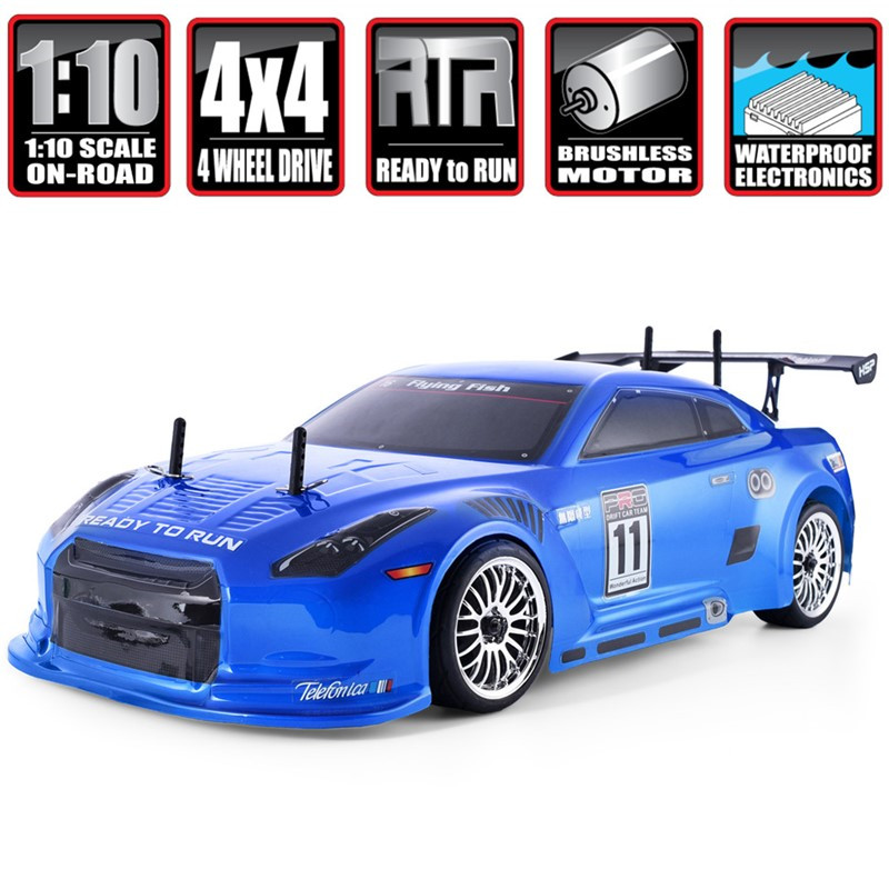 HSP Brushless <font><b>Rc</b></font> Car <font><b>1:10</b></font> 4wd On Road Racing <font><b>Drift</b></font> Remote Control Car 94123PRO Electric Power Toys High Speed Hobby Lipo Vehicle image