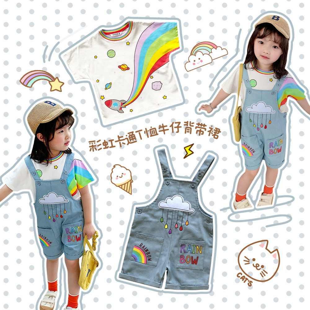 Tonytaobaby Kinder Tragen Kinder Strumpf Set Regenbogen Reine Baumwolle Niedlichen Cartoon Kinder Kleidung