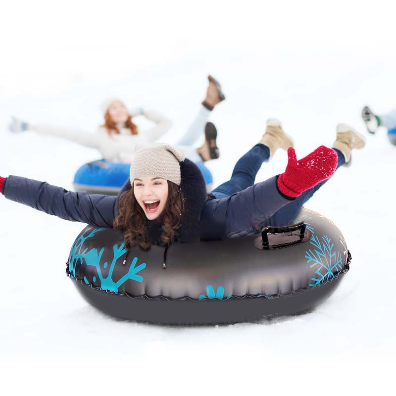 H47738375abb84363a63cb78b60f76019H - Floated Skiing Board PVC Winter Inflatable Ski Circle With Handle Durable Children Adult Outdoor Snow Tubes Skiing Accessories 8