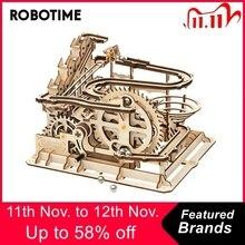 Robotime Rokr 4 Soorten Marmeren Run Spel Diy Waterrad Houten Model Building Kits Montage Speelgoed Cadeau Voor Kinderen Volwassen Dropship