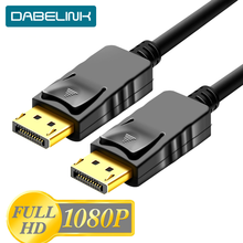 Dp1.2 1080 p 60 hz cabo de áudio video do cabo de displayport dp1.2 1.8 p do dp 3 5 m cabo de porta de exibição dp ao cabo masculino do dp para o projetor de hdtv