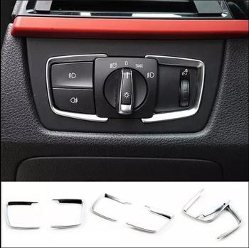 Car Headlight Switch Cover Frame Trim Sticker For BMW 1 2 3 4 Series 3GT 320LI 330LI F35 X5 X6 Accessories image