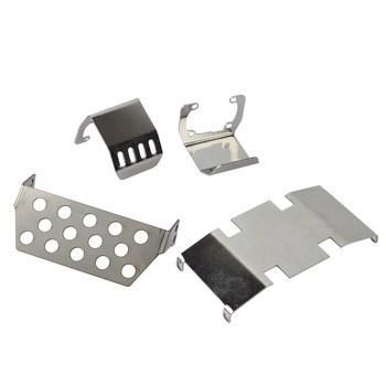 RC Metal Chassis Armor Axle Protection Skid Plate for Axial SCX10 II 90046 90047 1/10 RC Crawler Car Upgrade Parts rc metal chassis armor axle protection skid plate for axial scx10 ii 90046 90047 1 10 rc crawler car upgrade parts