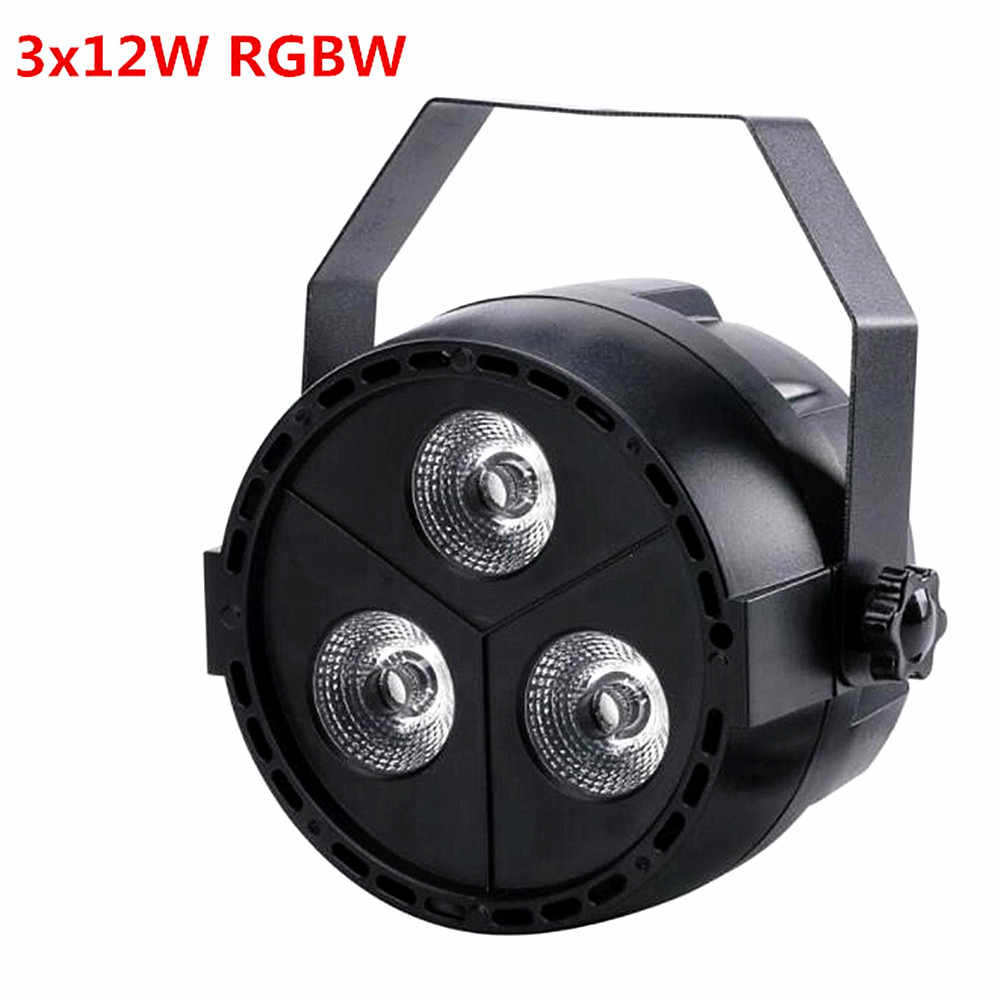 Hot Sale Baru Mini Par LED 3*12W 4in1 RGBW Lampu PAR LED DJ Lampu Par 3X12 W Mini Lampu PAR