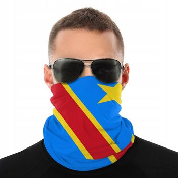 Republic Of The Congo Scarf Neck Face Mask Unisex Fashion Tube Tubular Bandana Protective Headband Biking Hiking - discount item  47% OFF Scarves & Wraps