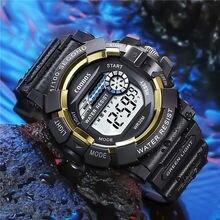 Светящиеся спортивные мужские цифровые часы продвинутый силиконовый