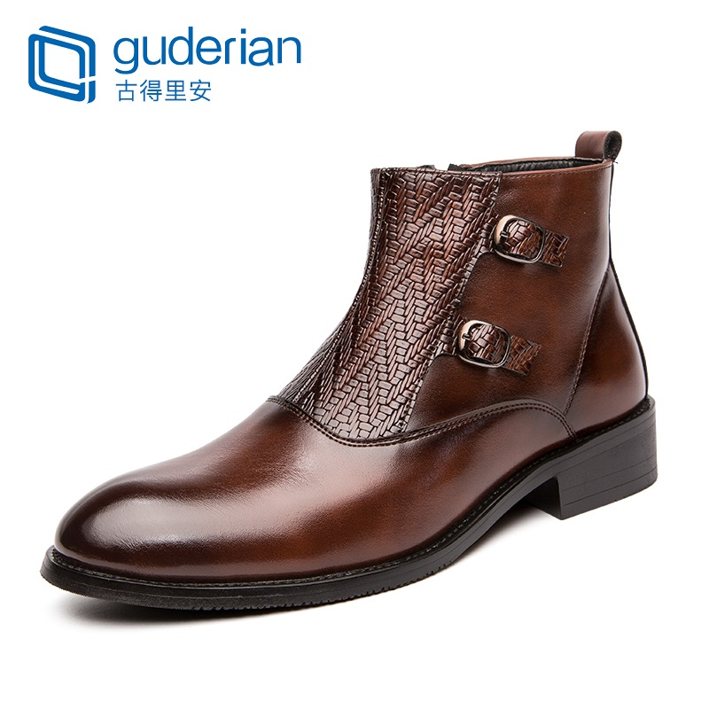 New Men's Chelsea Boot Genuine Leather Spring/Autumn men shoes Fashion Ankle Boot Dress shoes for men bottes homme cuir
