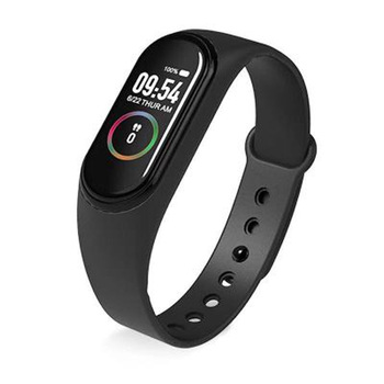 M4 waterproof smart bracelet monitoring information reminding color screen watch heart rate blood pressure calculation unisex 1