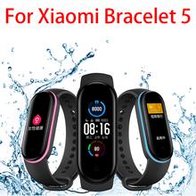 Inteligentny zegarek dla Xiaomi Mi Band 5 bransoletka pasek Miband wymiana silikonowy pasek opaska na nadgarstek do Xiaomi Band 5 akcesoria Dropship tanie tanio centechia Pasek na nadgarstek Strap Dla dorosłych Wszystko kompatybilny