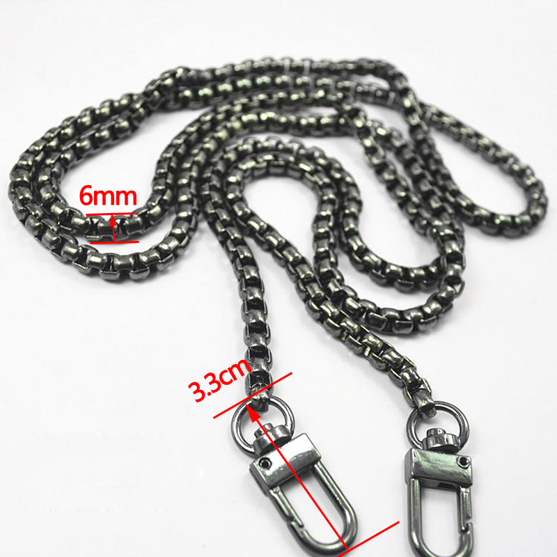 DIY Gold, Silver, Gun Black 5.5mm Metal Replacement Chain Shoulder Crossbody Bag Straps for Small Handbag, Clutch, Purse Handles