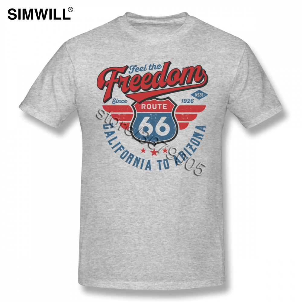Men's Freedom California To Arizona Tee <font><b>Shirt</b></font> Funny <font><b>Route</b></font> <font><b>66</b></font> <font><b>T</b></font> <font><b>Shirt</b></font> Short Sleeves Cotton Printed <font><b>T</b></font>-<font><b>Shirt</b></font> Round Collar Trend image