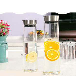 Image 4 - 1/1.5L Large Capacity Heat Proof Transparent Thicken Glass Pitcher with Lid Water Bottle Jar Kettle Juice Bottle Kitchen Teapot