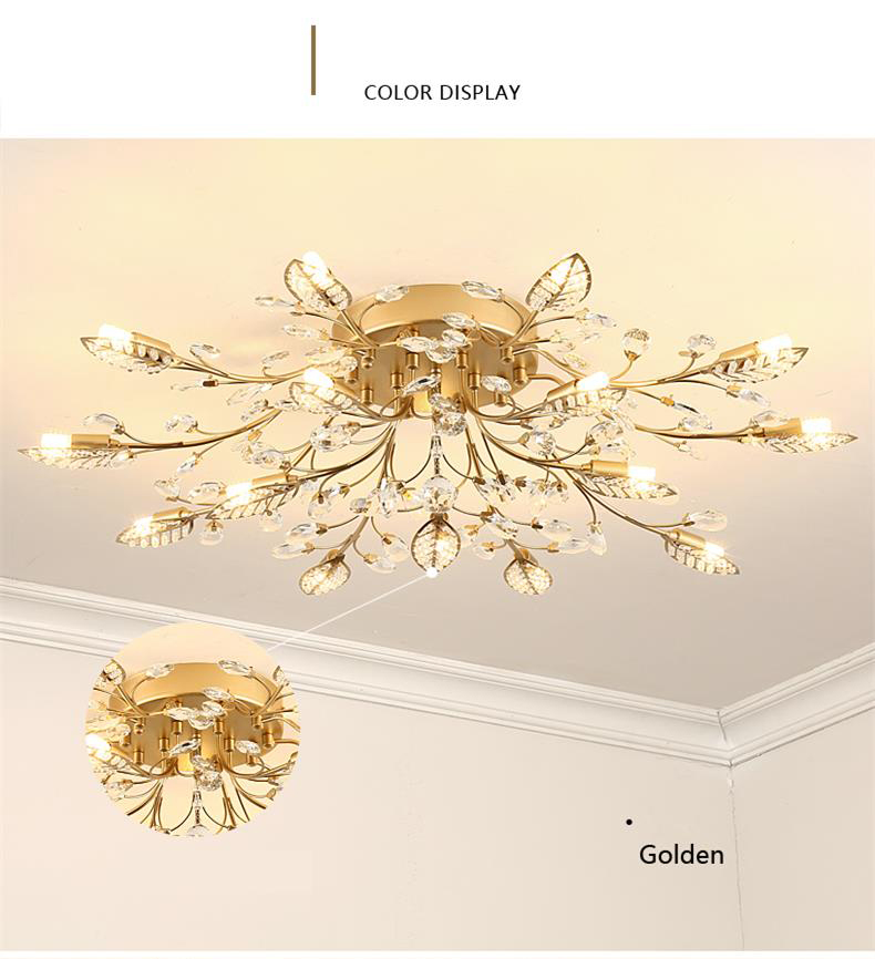 H4774c0318a1d4180bc254093d39e7d25S TRAZOS New item fancy ceiling light LED Crystal ceiling lamp modern lamps for living room lights,AC110-240V DIY Crystal lighting