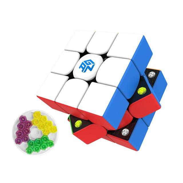 Fast delivery GAN cubes GAN 356 M stickerless 3x3 Speed cube Magnetic Professional Speed cube GAN356M 3x3 GAN 356 M Cubo Magico 4
