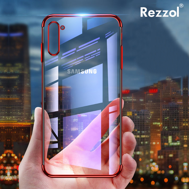 Fundas Phone-Cases Note Laser-Plating Clear-Cover Samsung for Galaxy 10-Plus 3D Soft
