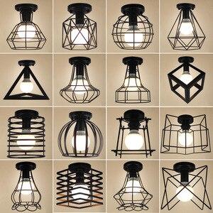 Image 2 - Vintage Ceiling Lights Lustre Luminaria Led Ceiling Lamp Loft Iron Cage Fixtures Abajur Home Lighting Plafonnier For Living Room