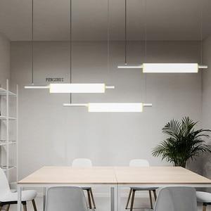 Image 2 - נורדי LED ברזל אמנות מים צינור תליון אורות תאורה הפוסטמודרנית לופט סלון ארוחת בר מנורת חדר שינה בר דקו אור גופי